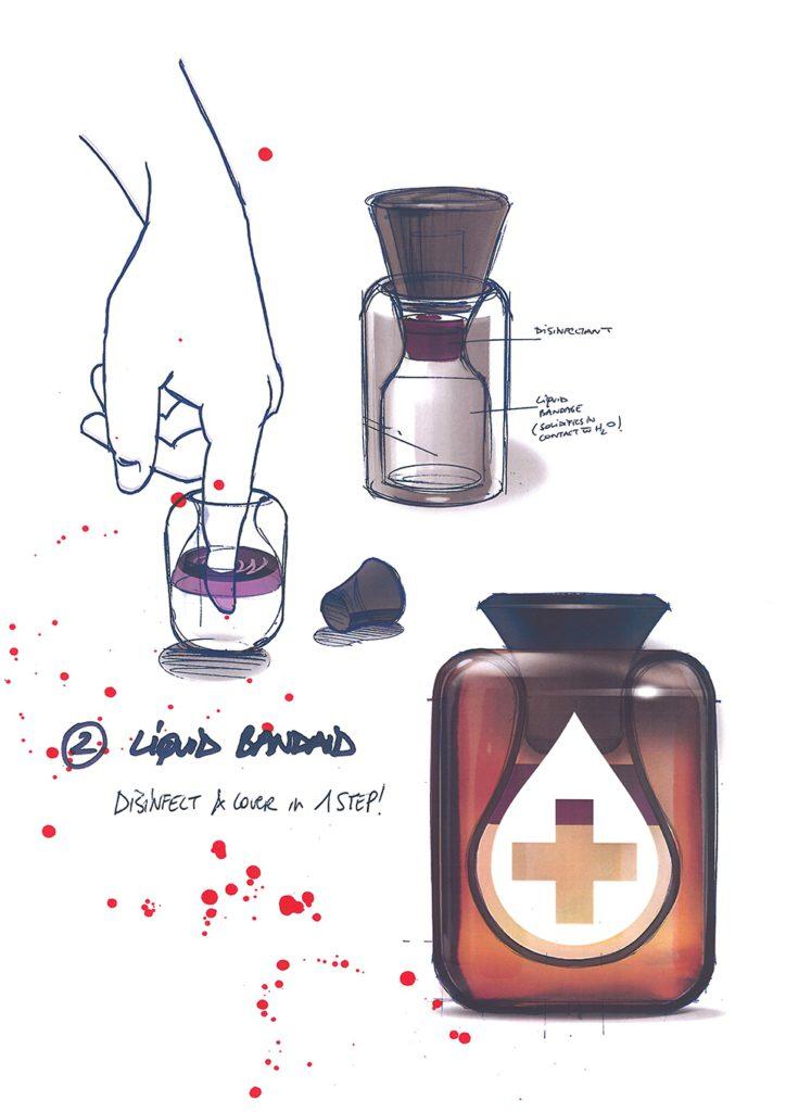 Concept generation - liquid bandaid bottle