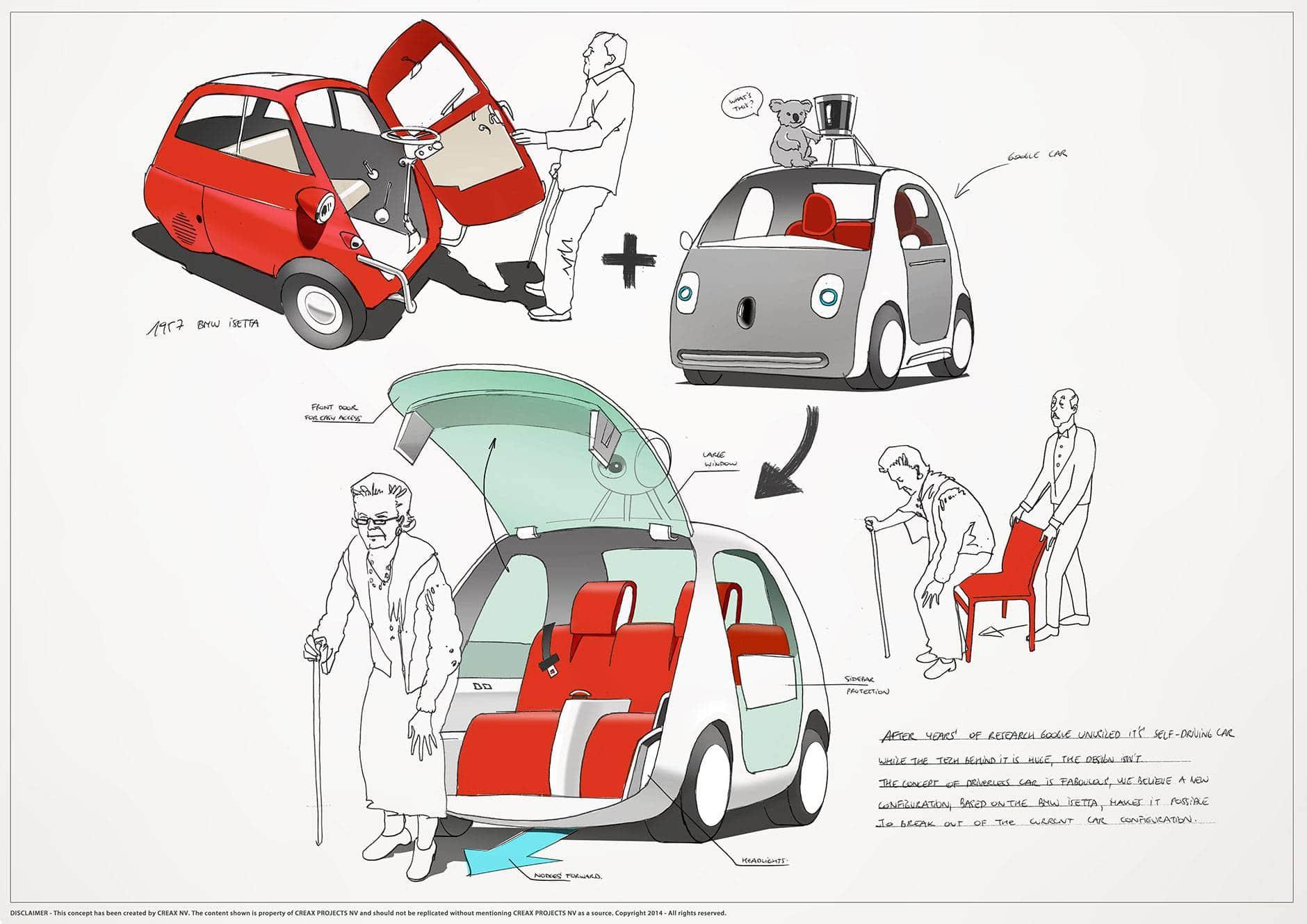 innovation and creativity - making the google car even better