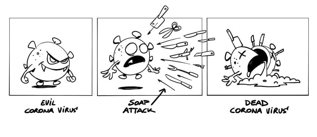 Cartoon Corona Virus