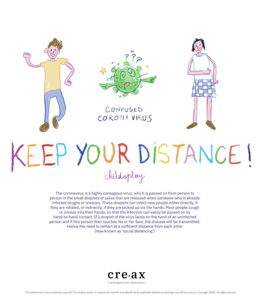 Keep your distance poster Corona
