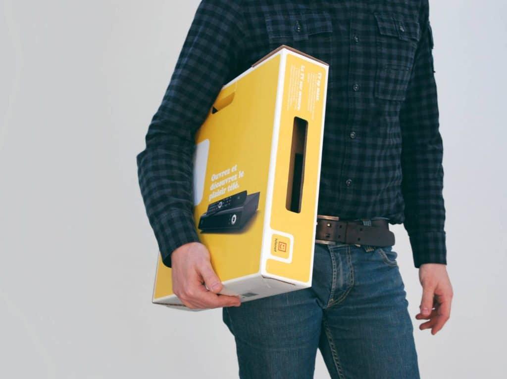 innovative space-saving packaging for telenet