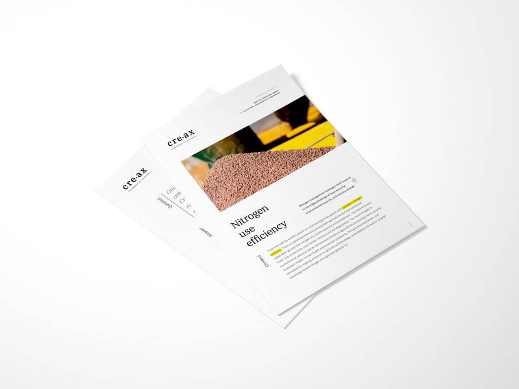 Download leaflet Nitrogen use efficiency by Creax