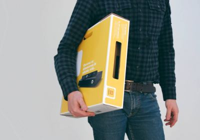 innovative space-saving packaging for telenet